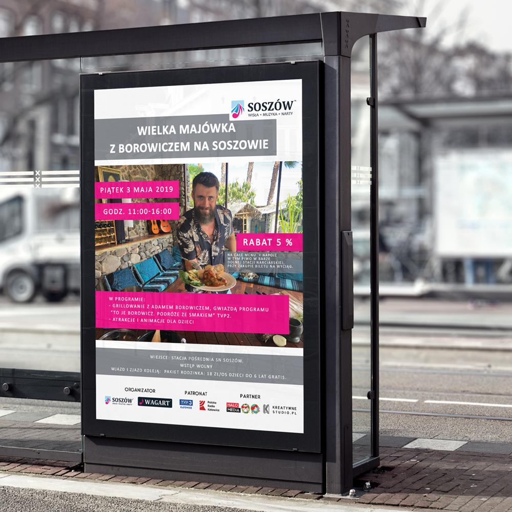 projekt plakatu, billboardu