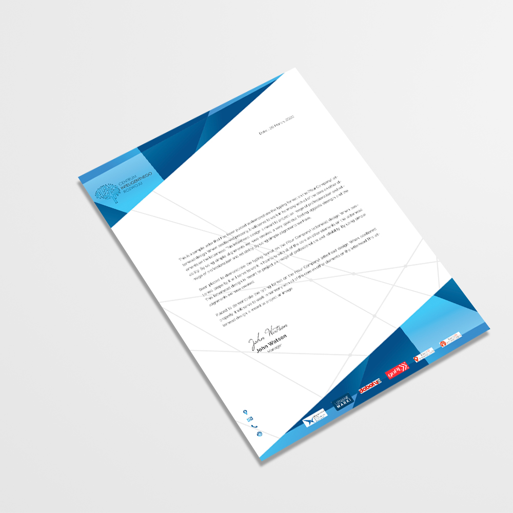 branding, projekt papieru firmowego