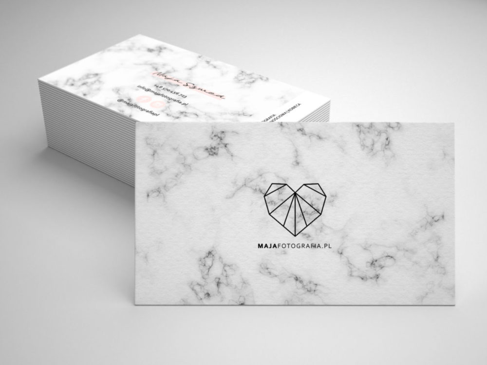 Projekt i druk wizytówek
