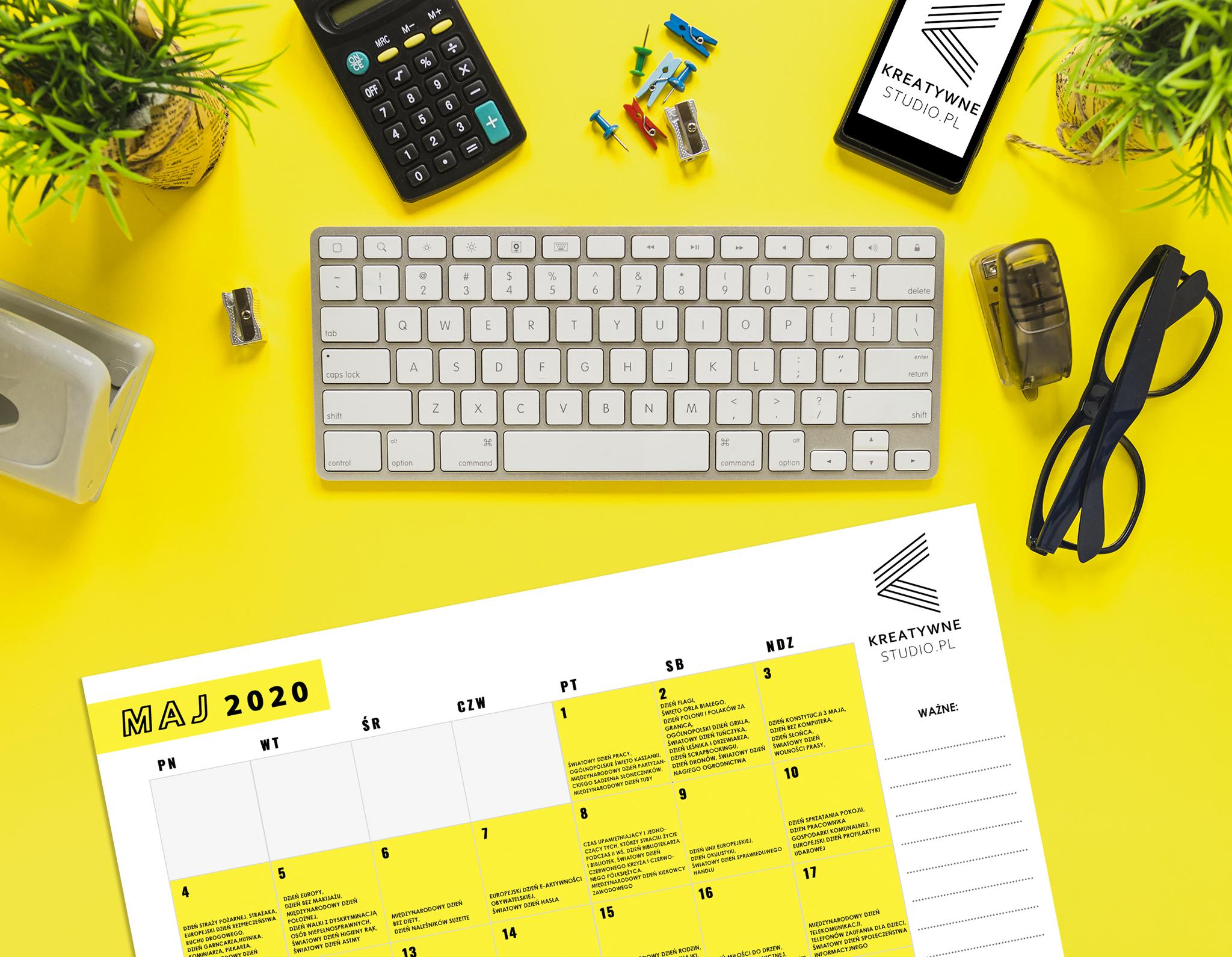 darmowy kalendarz świąt maj