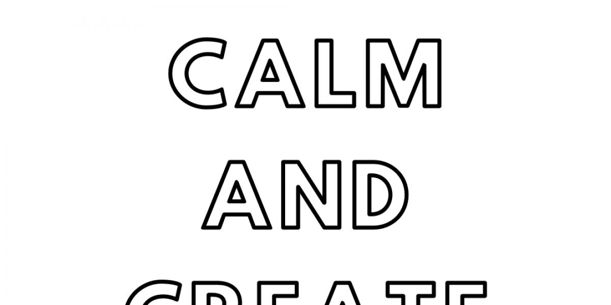 keep calm and create